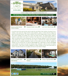 Cartmel Cottages in the South Lake District - Landing Page