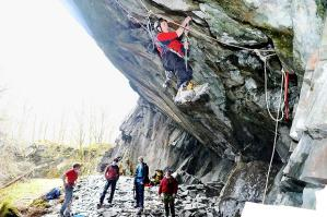 The Works is popular for dry-tooling — but purists say it damages the landscape