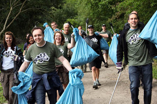 Clean up participants from a p-revious Envirotrek event