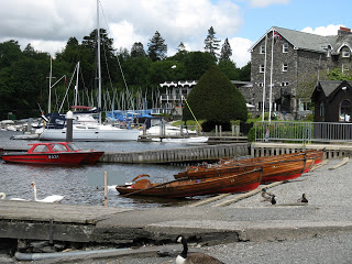Lake Windermere launch and boat hire area